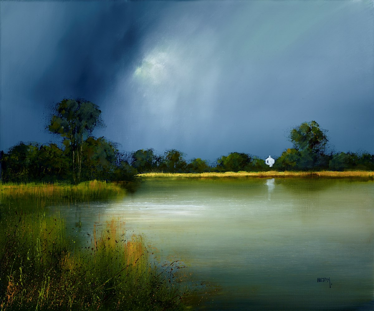 Water's Edge by barry hilton -  sized 24x20 inches. Available from Whitewall Galleries